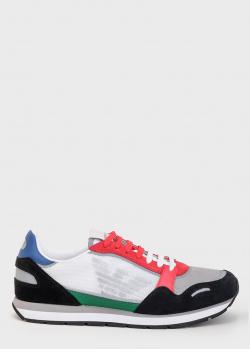 Мужские кроссовки Emporio Armani с фирменным орлом, фото