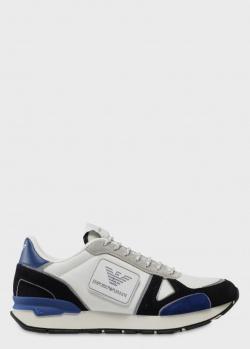 Кроссовки Emporio Armani с синими вставками, фото