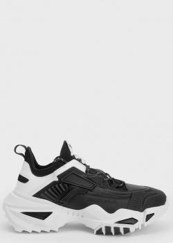 Массивные черно-белые кроссовки Emporio Armani , фото
