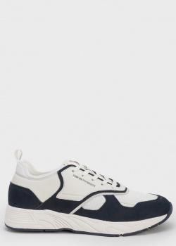 Белые кроссовки Emporio Armani с черными вставками, фото