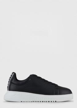 Кроссовки Emporio Armani с брендовым задником, фото