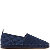 Синие эспадрильи Emporio Armani с брендовым принтом, фото