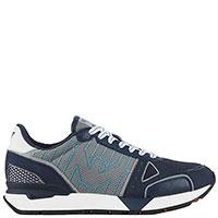 Синие кроссовки Emporio Armani с логотипом, фото
