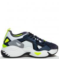 Массивные кроссовки Emporio Armani с волнистой подошвой, фото