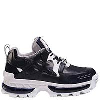 Темно-синие кроссовки Emporio Armani на толстой подошве, фото