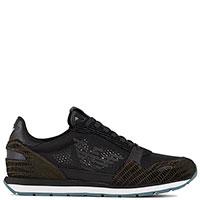 Черные кроссовки Emporio Armani с животным принтом, фото