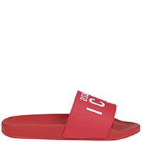 Красные сланцы Dsquared2 Icon с принтом-лого, фото
