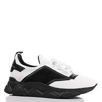 Белые кроссовки Frankie Morello на черной подошве, фото