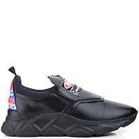 Мужские кроссовки Frankie Morello с принтом черного цвета, фото