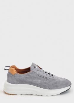 Замшевые кроссовки Fratelli Rossetti серого цвета, фото