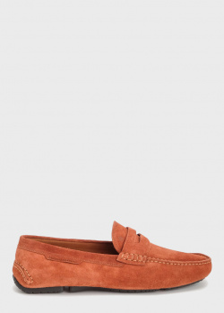 Замшевые мокасины Fratelli Rossetti коричневого цвета, фото