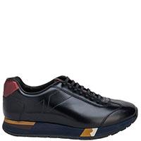 Черные кроссовки Fratelli Rossetti на разноцветной подошве, фото