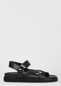 Мужские сандалии Dsquared2 из черной кожи, фото