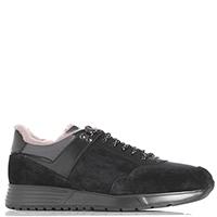 Замшевые кроссовки Fabi с кожаными вставками, фото
