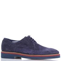Замшевые туфли FABI синего цвета с перфорацией, фото