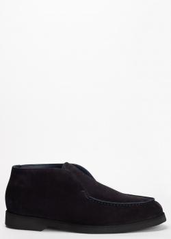 Мужские ботинки Pellettieri di Parma из синей замши, фото