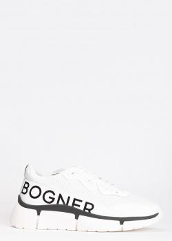 Белые кроссовки Bogner с фирменным принтом, фото