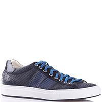 Перфорированные кеды Bagatto с синими шнурками, фото