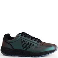 Мужские кроссовки Emporio Armani зеленого цвета, фото