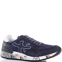 Синие кроссовки Premiata с принтом на подошве, фото
