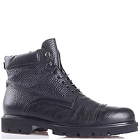 Черные ботинки Giampiero Nicola из зернистой кожи, фото
