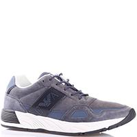 Серые кроссовки Emporio Armani на толстой подошве, фото