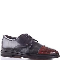 Туфли-дерби Gianfranco Butteri с фактурной вставкой на носке, фото