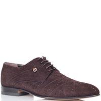 Туфли Giovanni Ciccioli из замши коричневого цвета с перфорацией, фото