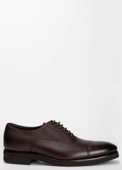 Туфли Henderson Baracco из зернистой коричневой кожи, фото
