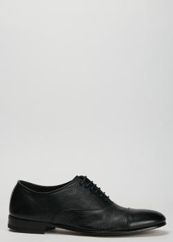 Черные оксфорды Henderson Baracco из зернистой кожи, фото