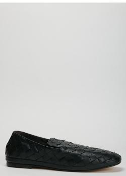 Черные лоферы Henderson Baracco из плетеной кожи, фото
