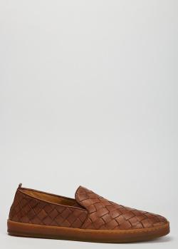 Плетеные лоферы Henderson Baracco коричневого цвета, фото