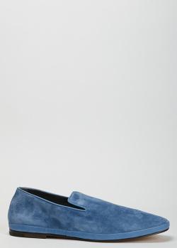Мужские лоферы Henderson Baracco синего цвета, фото