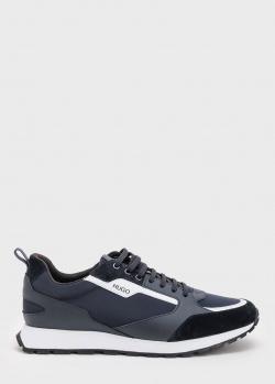 Синие кроссовки Hugo Boss Hugo с контрастными вставками, фото