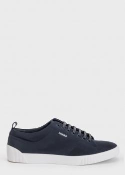 Синие кеды Hugo Boss Hugo на шнуровке, фото