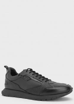 Черные кроссовки Hugo Boss Icelin из кожи, фото