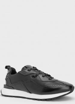 Черные кроссовки Hugo Boss Cubite из кожи, фото
