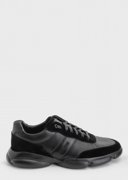 Кроссовки на шнуровке Hugo Boss черного цвета, фото