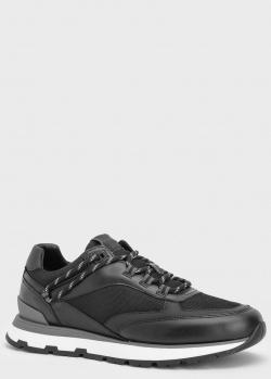 Кожаные кроссовки Hugo Boss Arigon с текстильными вставками, фото