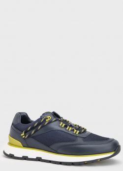 Синие кроссовки Hugo Boss Arigon с контрасной шнуровкой, фото