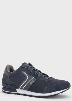 Кроссовки на шнуровке Hugo Boss Parkour синего цвета, фото