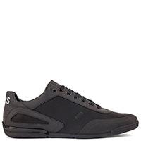 Текстильные кроссовки Hugo Boss черного цвета, фото