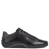 Черные кроссовки Hugo Boss из гладкой кожи, фото