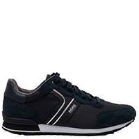 Темно-синие мужские кроссовки Hugo Boss на белой подошве, фото