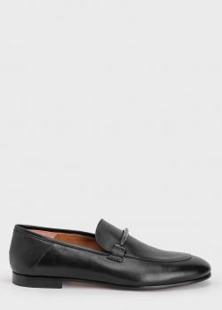 Туфли-лоферы Hugo Boss с брендовым декором, фото