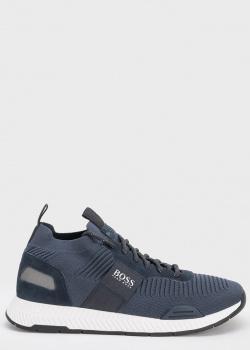 Мужские кроссовки Hugo Boss из синего текстиля, фото