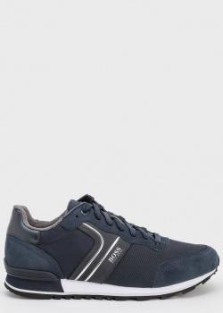 Синие кроссовки Hugo Boss на белой подошве, фото