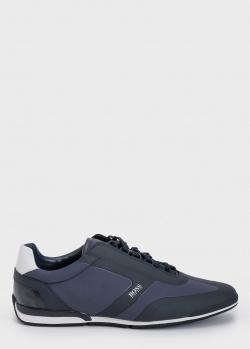 Мужские кроссовки Hugo Boss синего цвета, фото