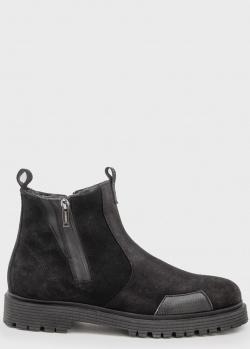 Замшевые ботинки Iceberg черного цвета, фото
