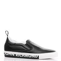 Черные слипоны John Richmond с принтом, фото